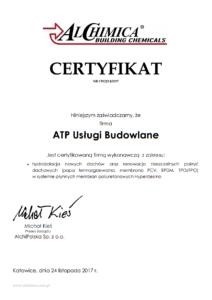 hydroizolacje certyfikat